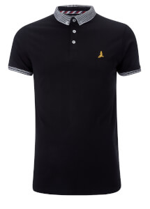 Brave Soul Men's Glover Polo Shirt - Black