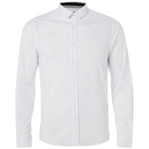 Brave Soul Men's Tudor Shirt - White