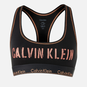 Calvin Klein Women's Unlined Bralette - Black/Rose Gold