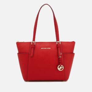 MICHAEL MICHAEL KORS Women's Jet Set East West Top Zip Tote Bag - Bright Red