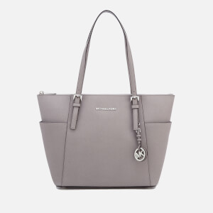 MICHAEL MICHAEL KORS Women's Jet Set East West Top Zip Tote Bag - Pearl Grey