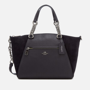 Coach Women's Prairie Suede Satchel - Black
