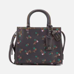 Coach 1941 Women's Cherry Print Rogue Shoulder Bag - Black