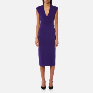 MICHAEL MICHAEL KORS Women's V Neck Midi Dress - Iris