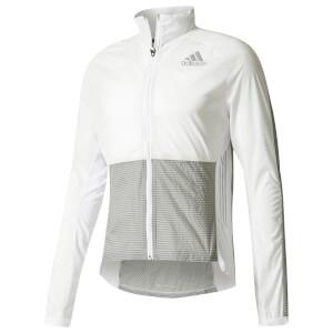 adidas Men's Adizero Running Hoody - White/Grey