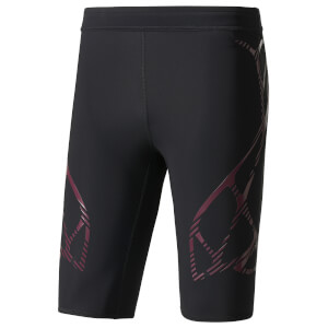 adidas Men's Adizero Running Shorts - Black/Burgundy