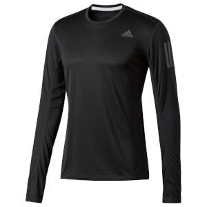 adidas Men's Response Long Sleeved Running Top - Black