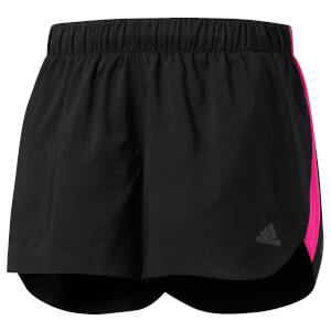 adidas Women's Response Running Shorts - Black/Pink