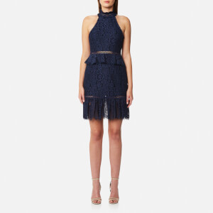 Foxiedox Women's Emilia High Neck Dress - Navy