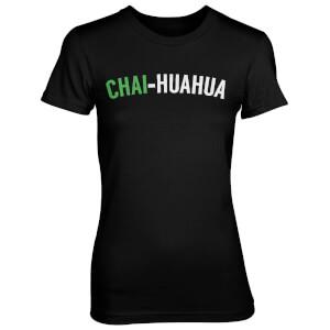 Chai-huahua Women's Black T-Shirt