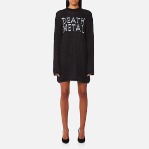 McQ Alexander McQueen Women's Death Metal Crew Jumper - Darkest Black