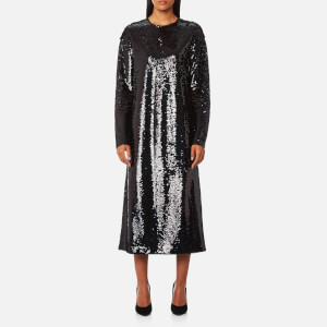 McQ Alexander McQueen Women's Relaxed Long Sleeve Dress - Black