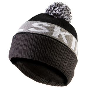 Sealskinz Water Repellant Bobble Hat - Black/Grey