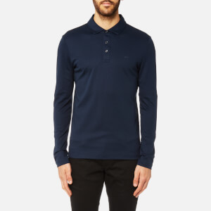 Michael Kors Men's Liquid Jersey Long Sleeve Polo Shirt - Midnight
