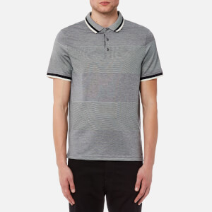 Michael Kors Men's Birdseye Feeder Short Sleeve Polo Shirt - Midnight