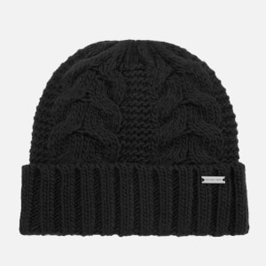 Michael Kors Men's Link Cable Cuff Hat - Black
