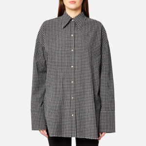 Helmut Lang Women's Check Shirt Gingham - Black/Grey Melange