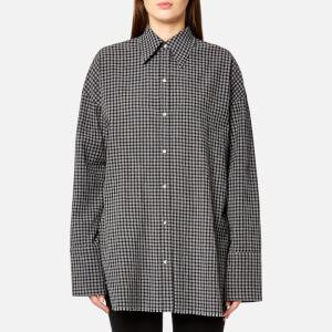 Helmut Lang Women's Check Shirt Gingham - Black/Grey Melange