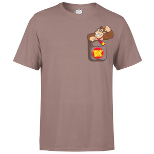 Nintendo Donkey Kong Pocket Men's Chocolate T-Shirt