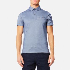 Tommy Hilfiger Men's Ronan Twill Short Sleeve Polo Shirt - Light Indigo