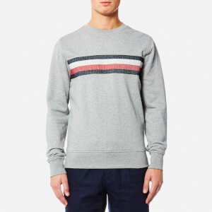 Tommy Hilfiger Men's Lake Embroidered Crew Neck Long Sleeve Knitted Jumper - Cloud Heather