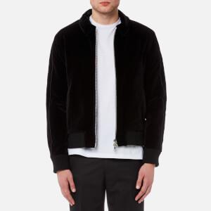 Officine Générale Men's Egon Velvet Piping Jacket - Black
