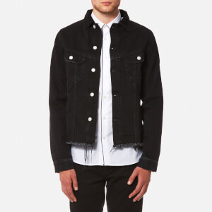 Officine Générale Men's Clint Japanese Denim Jacket - Black