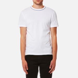Officine Générale Men's Piping Neck Pigment Dye T-Shirt - White