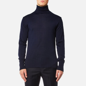Officine Générale Men's Nina Merino Wool Roll Neck Jumper - Navy