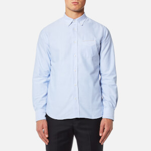 Officine Générale Men's Button Down Oxford Shirt - Sky