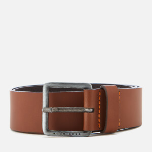 BOSS Orange Men's Jeeko Leather Belt - Medium Brown