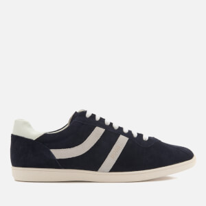 BOSS Orange Men's Rumba Suede Tennis Trainers - Dark Blue