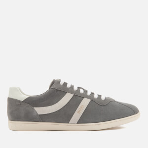 BOSS Orange Men's Rumba Suede Tennis Trainers - Medium Grey