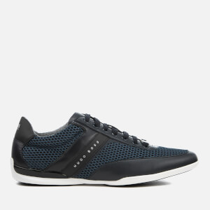 BOSS Green Men's Space Air Mesh Low Profile Trainers - Dark Blue