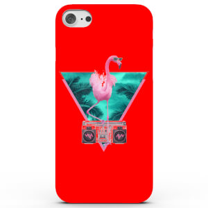 Coque iPhone & Android Flamant Rose de Miami - 4 Couleurs