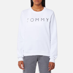 Tommy Hilfiger Women's Heavy Weight Tommy Knitted Sweatshirt - Classic White