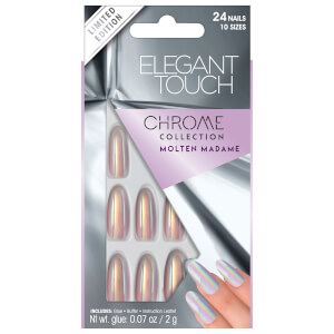 Elegant Touch Chrome Molten Madame Nails