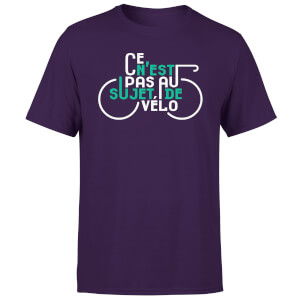 Ce N'est Pas Au Sujet De Velo Men's Purple T-Shirt