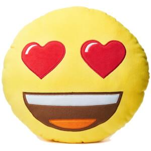 Coussin Emoji - Yeux Cœurs