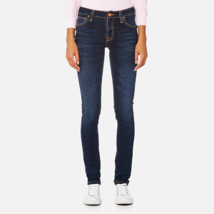 Nudie Jeans Women's Skinny Lin Jeans - Dark Blue Authentic