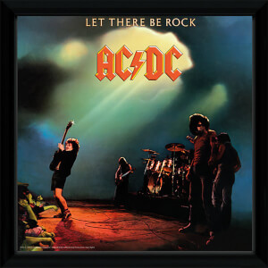 AC/DC Let There Be Rock - 12 x 12 Inches Framed Album Print