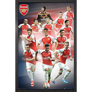 Arsenal Players 15/16 - 61 x 91.5cm Framed Maxi Poster