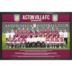 Aston Villa Team Photo 15/16 - 61 x 91.5cm Framed Maxi Poster