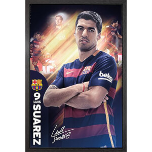Barcelona Suarez 15/16 - 61 x 91.5cm Framed Maxi Poster