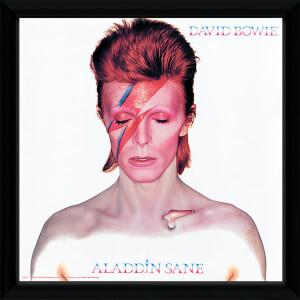 David Bowie Aladdin Sane - 12 x 12 Inches Framed Album Print