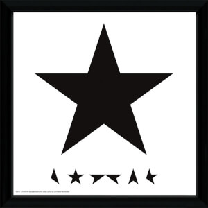 David Bowie Blackstar - 12 x 12 Inches Framed Album Print