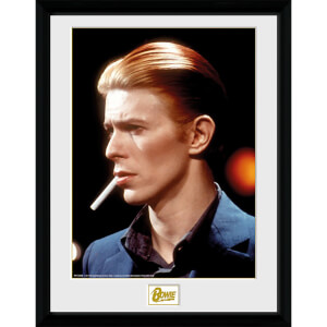 David Bowie Smoke - 16 x 12 Inches Framed Photograph