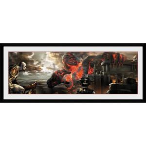 God of War Titan - 30 x 12 Inches Framed Photograph