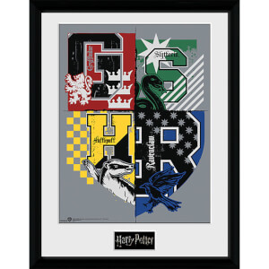 Harry Potter Letter Crests - 16 x 12 Inches Framed Photograph