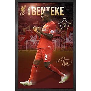 Liverpool Benteke 15/16 - 61 x 91.5cm Framed Maxi Poster